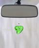 Green Shapely Heart Glass Reflection Pendant