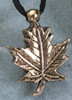Pendant Keepsake Brass Maple Leaf