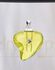 Golden Shapely Heart Glass Reflection Pendant