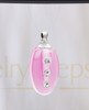 Pink Mystic Glass Teardrop Reflection Pendant