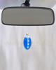 Royal Blue Mystic Glass Teardrop Reflection Pendant