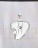 Clear Shapely Heart Glass Reflection Pendant