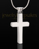 Stainless Cremains Locket Memorable Cross - Eternity Collection