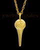 Cremation Locket Gold Plated Golf Tee