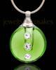 Jewelry Urn Green Security Glass Locket