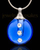 Cremation Locket Indigo Security Glass Locket