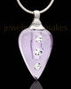 Jewelry Urn Lavender Joyful Glass Locket