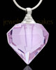 Cremation Pendant Violet Teardrop Glass Locket