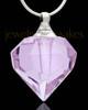 Cremation Pendant Violet Teardrop Glass Locket
