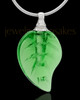 Urn Necklace Green Fall Glass Locket