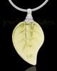 Urn Necklace Yellow Fall Glass Locket