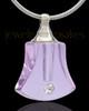 Urn Necklace Lavender Ringing Glass Locket
