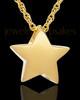 Cremation Charm Gold Plated Sliding Star Keepsake