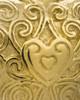 Memorial Pendant 14K Gold Plated Love Filigree Heart