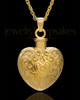 Memorial Pendant 14K Gold Love Filigree Heart