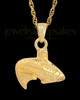 Cremation Urn Jewelry Gold Vermeil Circling Fish