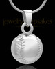 Necklace Urn Sterling Silver Baseball
