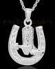 Memorial Pendant 14K White Gold Giddy Up