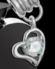 Black and Stainless Steel April Enamored Heart Cremation Keepsake