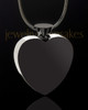 Black and Stainless  Enamored Heart Urn Charm