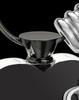 Black and Stainless Steel October Enamored Heart Cremation Keepsake