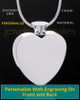 Stainless Steel Enamored Heart Cremation Keepsake