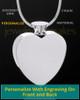 Stainless Steel Enamored Heart Cremation Keepsake