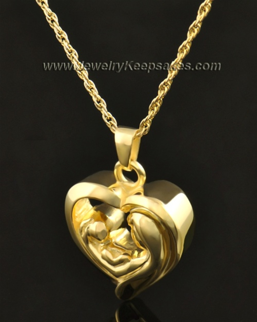 14 Gold Bond Of Love Locket Necklace And Heart Necklace Urns For Holding Close Cremated Ashes Of Loved One