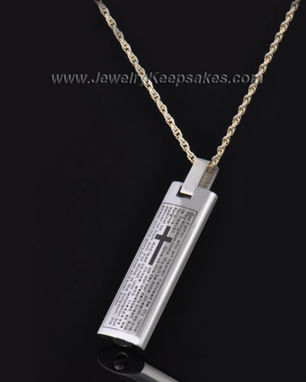 a619b8d8eee36 Stainless Steel The Lord's Prayer Cylinder
