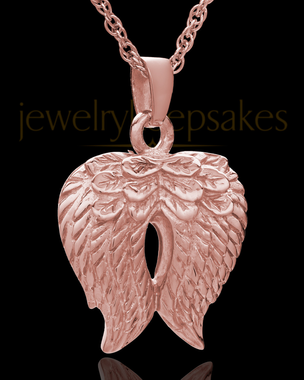 Heart Cremation Memorial Keepsake Pendant Necklace Jewelry with Fill Kit and Gift Box WK Son Angel Wing Urn Necklace for Ashes
