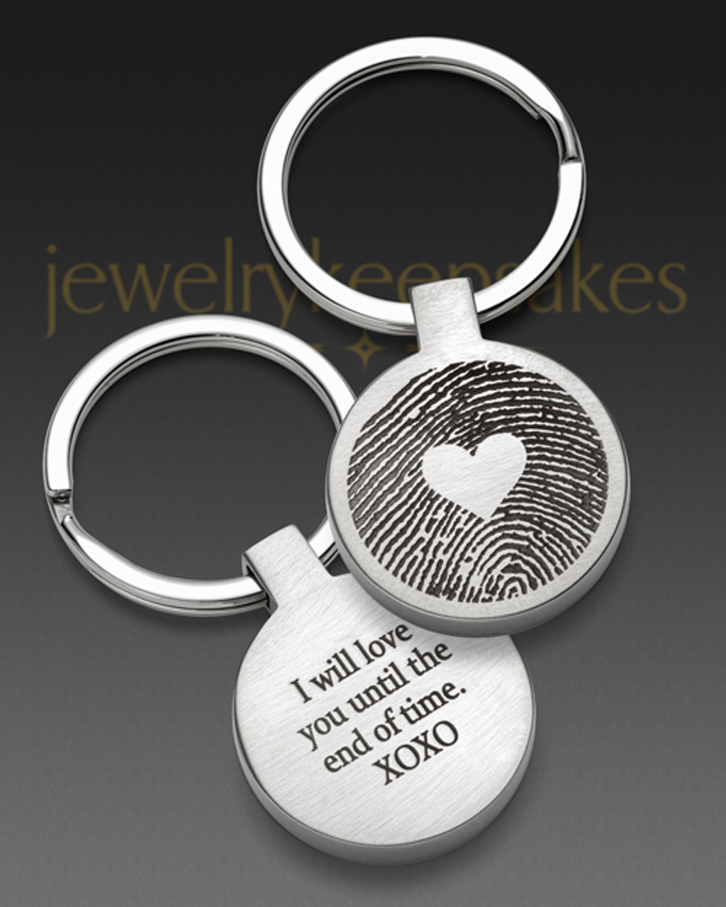 Personalised Engraved  Handprint Footprint High Quality Oval Keyring