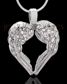 14 Karat White Gold Cremation Jewelry