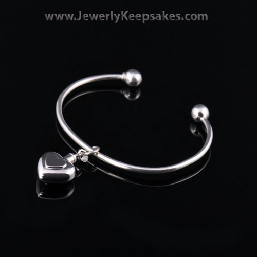 Remembrance Jewelry Bracelet Sterling Silver Two Heart