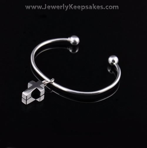 Remembrance Jewelry Bracelet Sterling Silver Elegant Cross