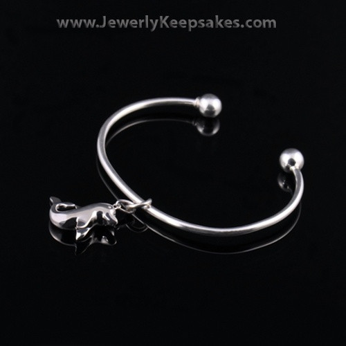 Remembrance Jewelry Bracelet Sterling Silver Dolphin