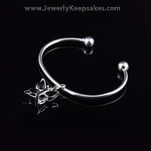 Remembrance Jewelry Bracelet Sterling Silver Black Butterfly