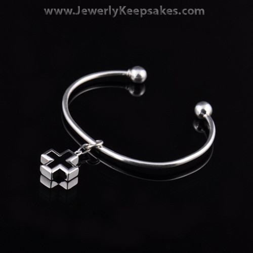 Remembrance Jewelry Bracelet Sterling Silver Night Cross