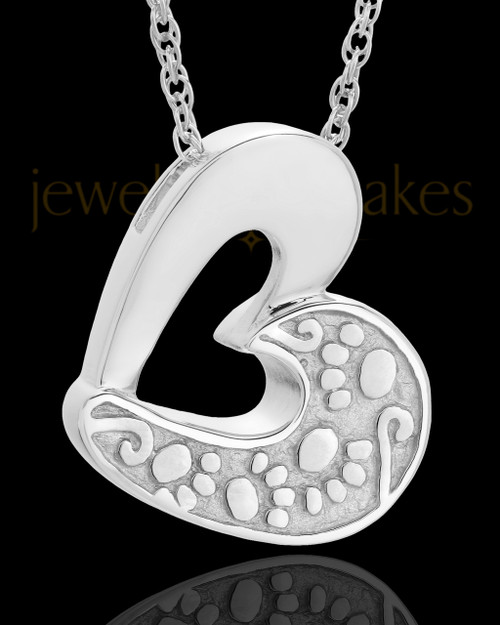 Pet Ash Jewelry 14k White Gold My Pal Keepsake