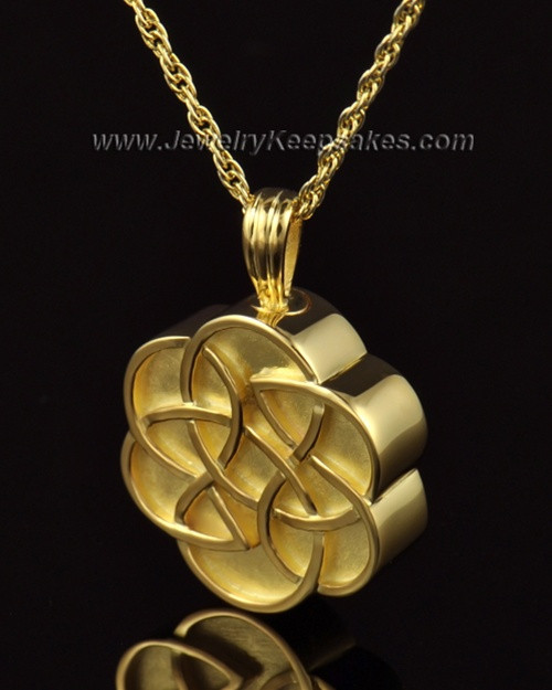 Urn Pendant 14k Gold Celtic Daisy Keepsake