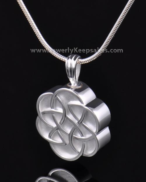 Urn Pendant Sterling Silver Celtic Daisy Keepsake