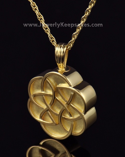 Urn Pendant Gold Plated Celtic Daisy Keepsake