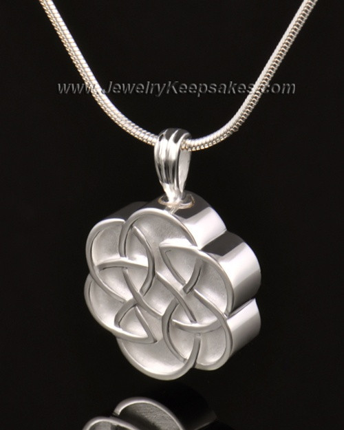Urn Pendant 14k White Gold Celtic Daisy Keepsake