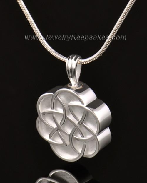 Urn Pendant 14k White Gold Celtic Daisy Keepsake