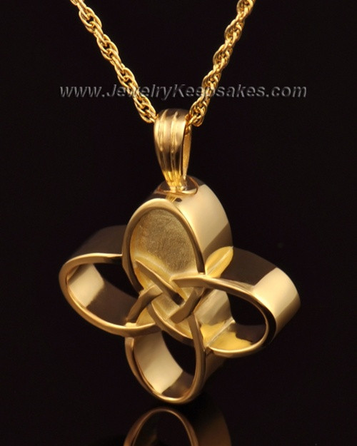 Memorial Keepsake 14k Gold Celtic Cross Keepsake