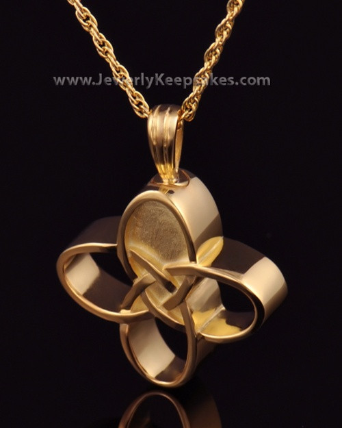 Memorial Keepsake Gold Plated Celtic Cross Keepsake