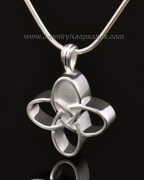 Memorial Keepsake 14k White Gold Celtic Cross Keepsake