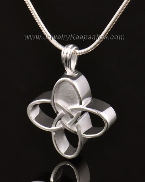 Memorial Keepsake 14k White Gold Celtic Cross Keepsake