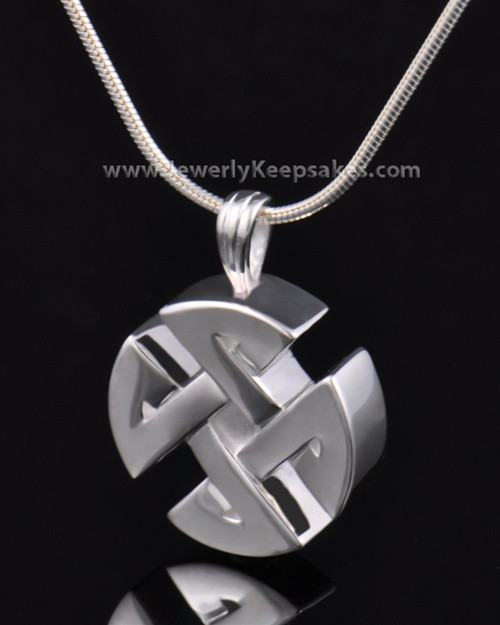 Cremation Pendant Sterling Silver Celtic Round Keepsake