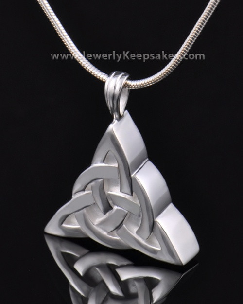 Remembrance Pendant Sterling Silver Celtic Triangle Keepsake