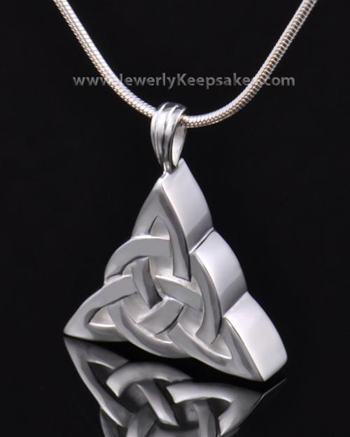 Remembrance Pendant Sterling Silver Celtic Triangle Keepsake